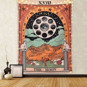 Tarot Medieval Europe The Star The Moon Tapestry